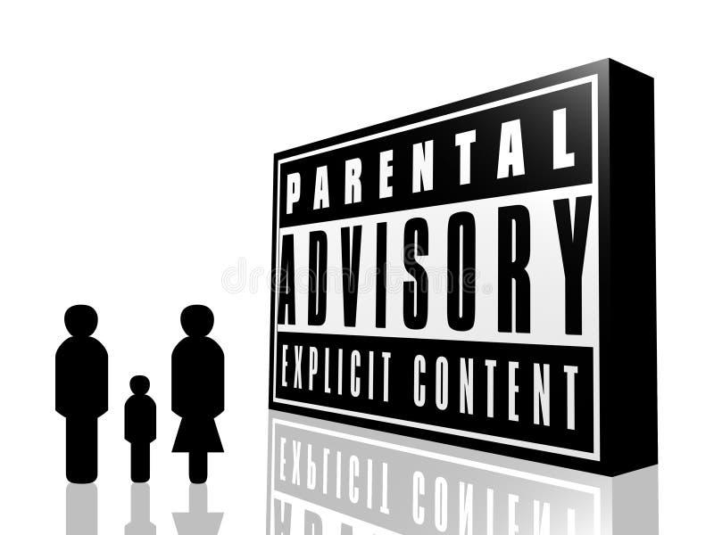 Advisory parental e família ilustração royalty free
