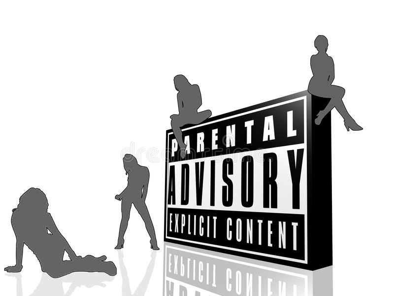 Advisory parental e mulheres em preto e branco ilustração stock