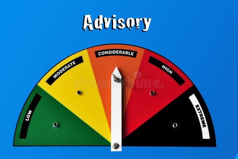 Advisory Warning Sign Royalty Free Stock Photography