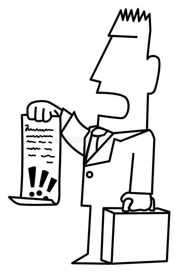 Advocaat Demand Line Drawing stock illustratie