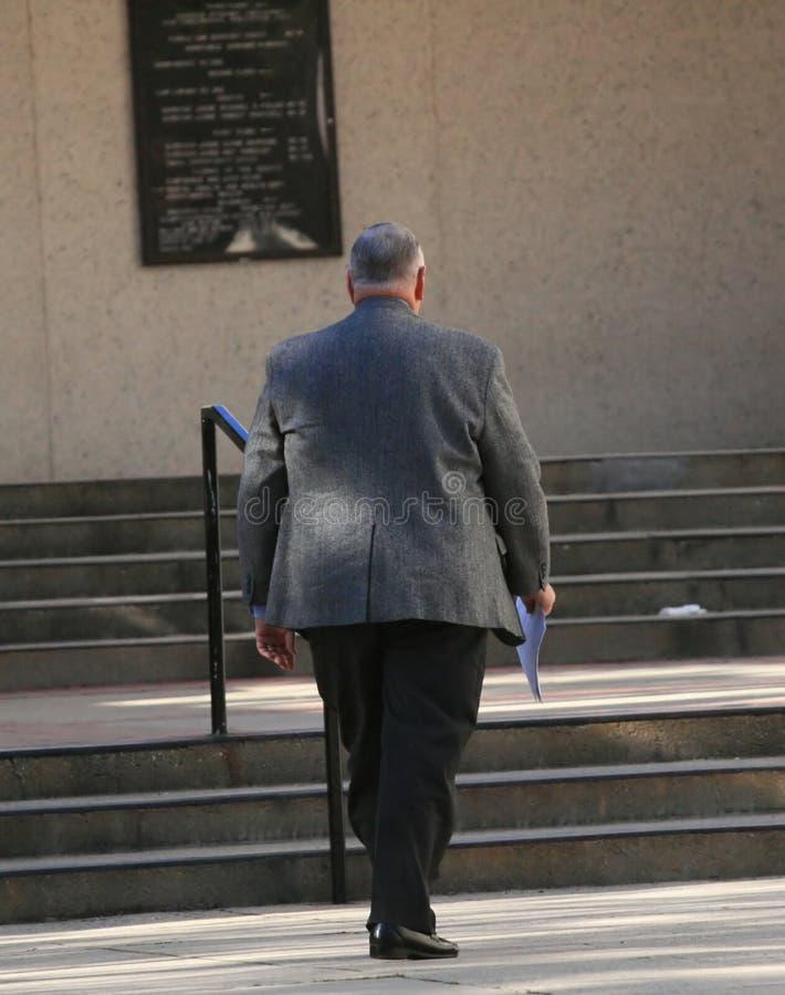 Advocaat die naar Hof gaan stock foto's
