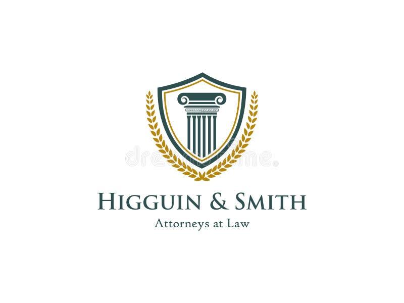 Advocaat of het symbool van het wetsbureau stock illustratie