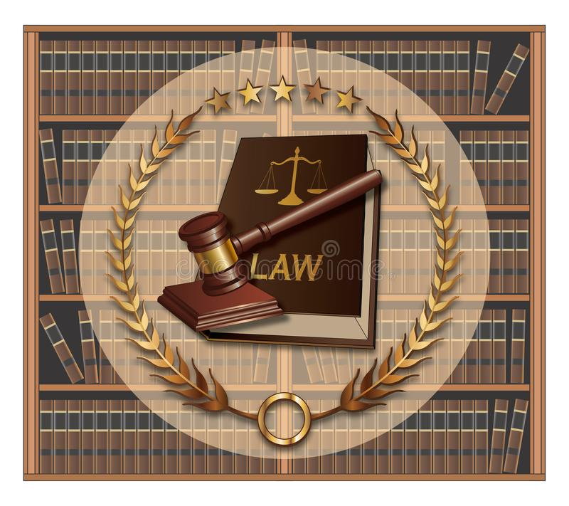 Advocaat - Wetsschool stock illustratie