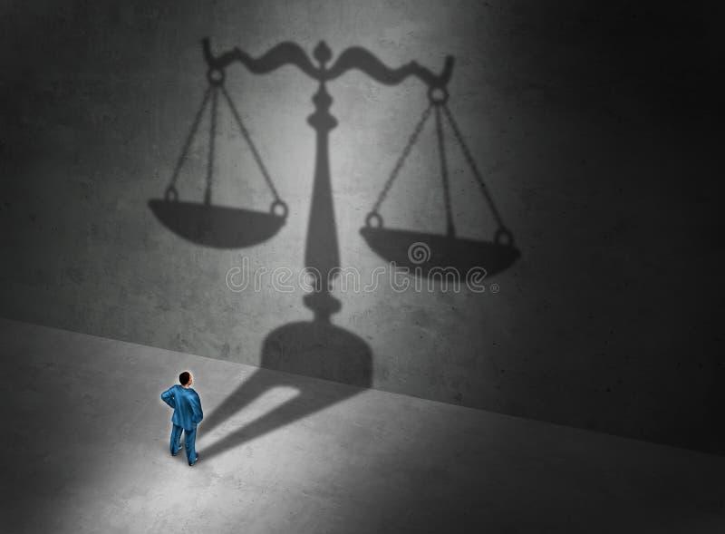 Advocaatconcept royalty-vrije illustratie
