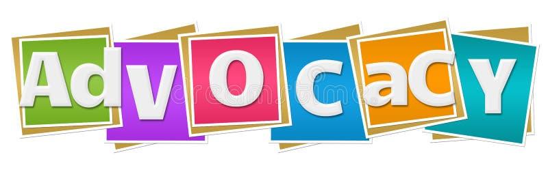 Advocacy Colorful Blocks stock illustration. Illustration of text ...