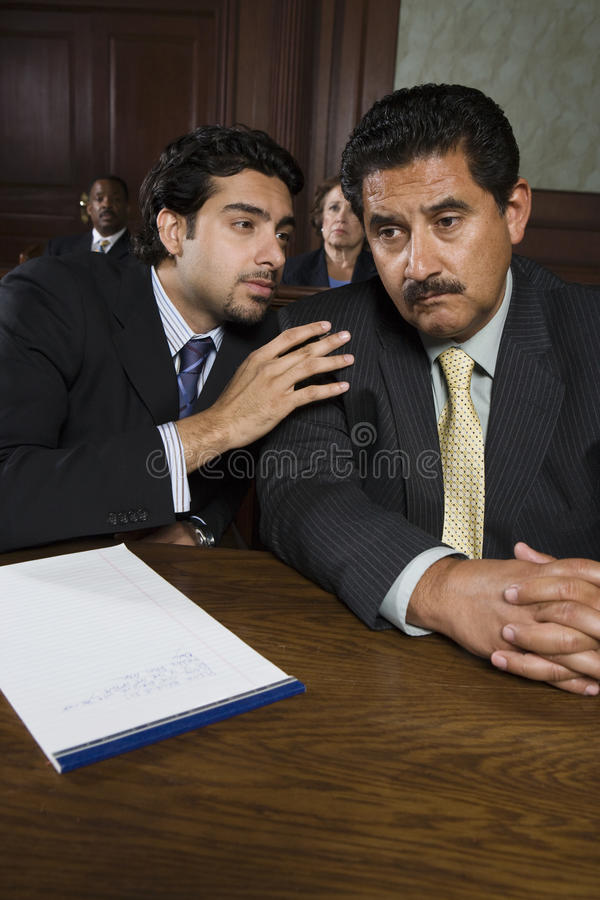 Advocate Discussing With Client stock images
