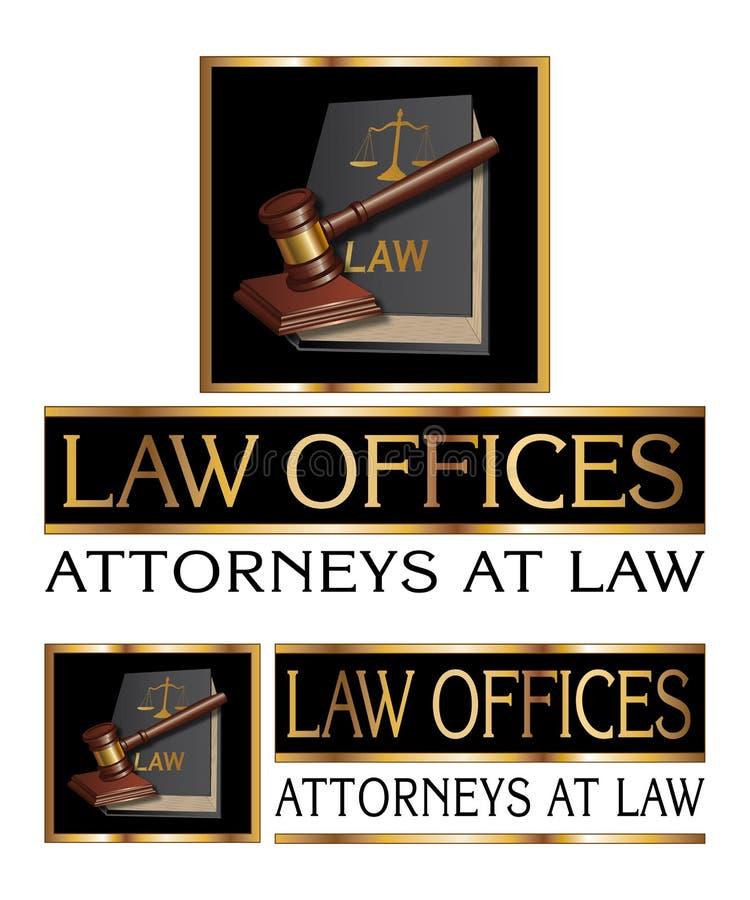 Advocatenkantoorontwerp met Hamer stock illustratie