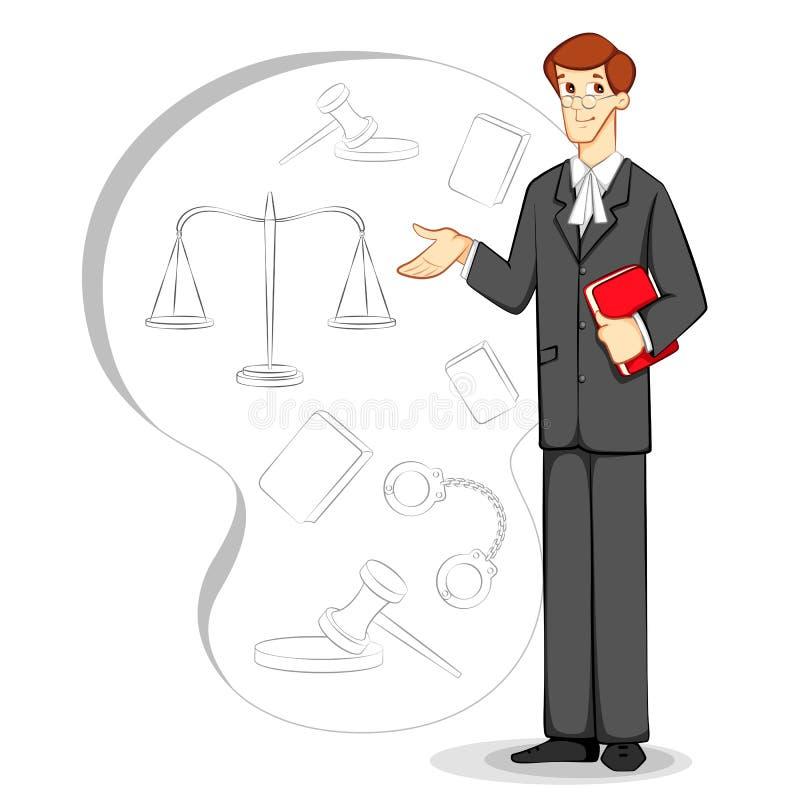 Advogado ilustração stock