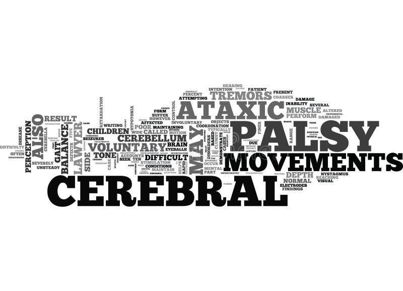 Advogado Ataxic Word Cloud da paralisia cerebral ilustração stock