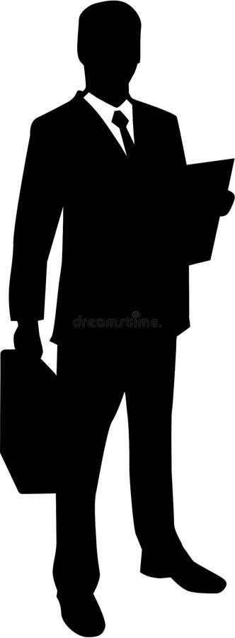 Advogado Business Man Silhouette ilustração stock
