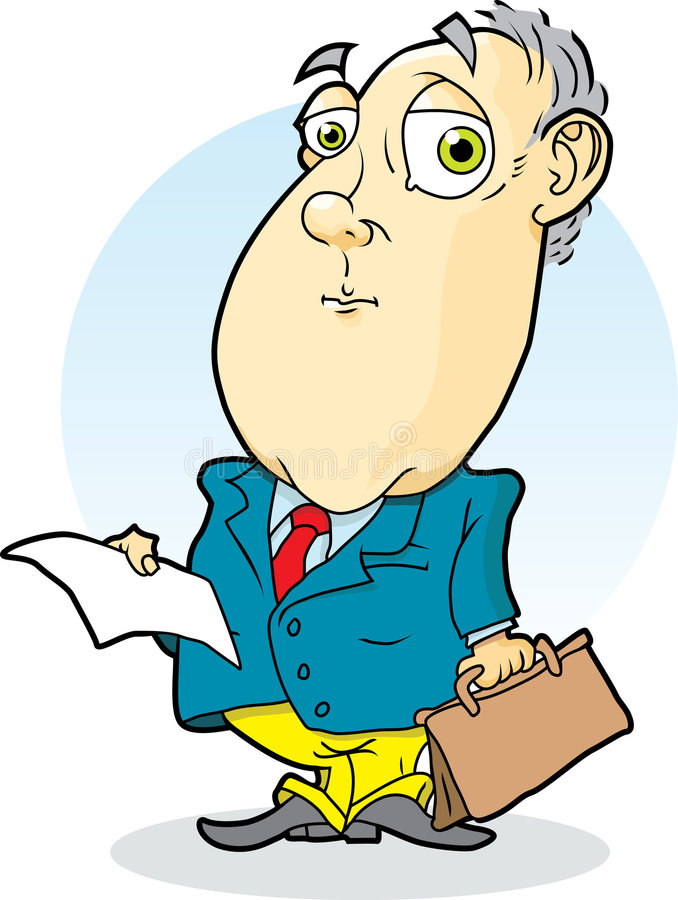 Advogado com sumário ilustração stock