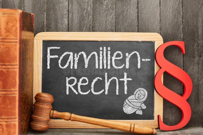 Advogado do especialista para o conceito dos direitos familiares imagem de stock royalty free