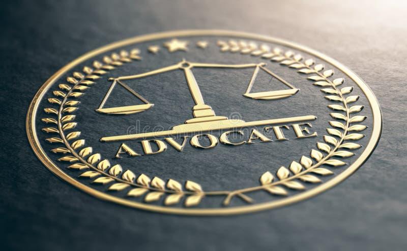 Advogado dourado Symbol fotos de stock royalty free