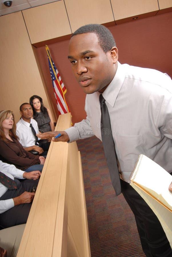 Advogado e jurado fotografia de stock royalty free