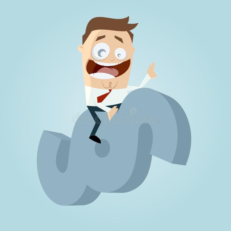 Advogado engraçado dos desenhos animados que monta um sinal do parágrafo ilustração royalty free