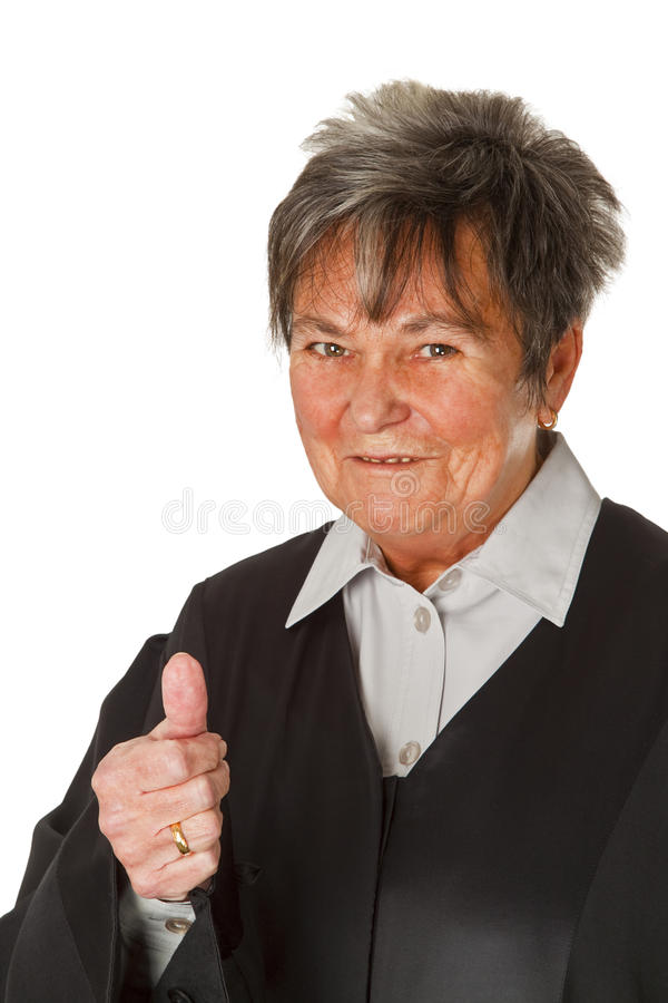 Advogado fêmea foto de stock