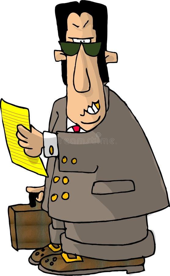 Advogado irritado ilustração stock