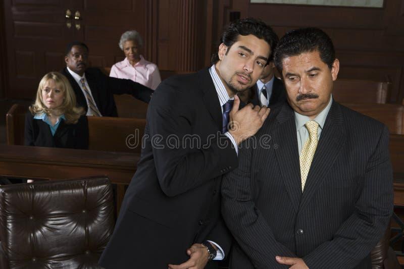 Advogado Sharing um o ponto com cliente imagem de stock royalty free