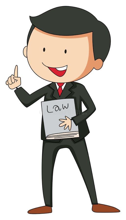 advokat royaltyfri illustrationer