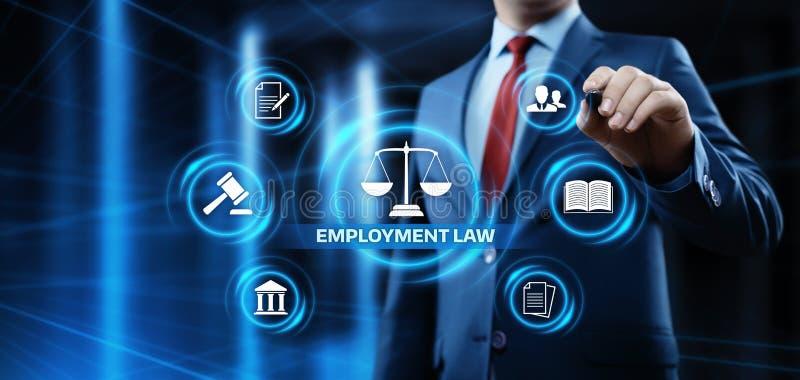 Advokat Business Concept för lagliga regler för anställninglag arkivbilder
