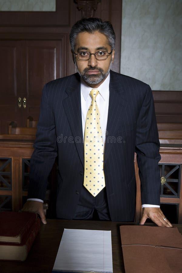 Advokat In Courtroom royaltyfri foto