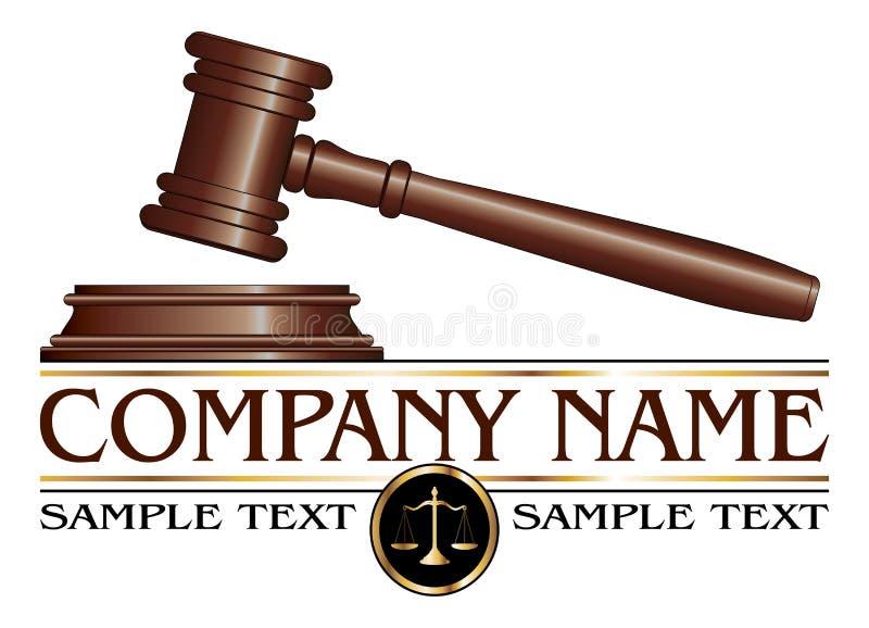 Advokat- eller advokatbyrådesign stock illustrationer