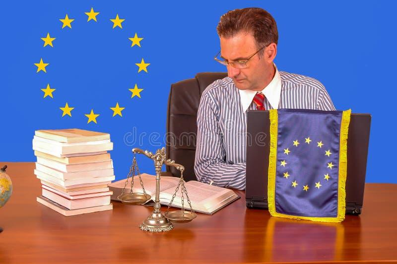 Advokat för europeisk union arkivbilder