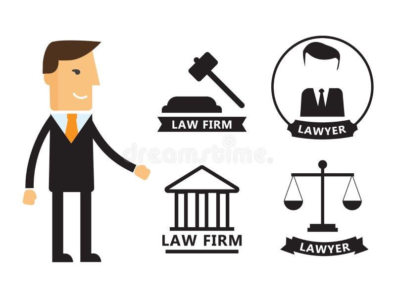 Advokatbegrepp royaltyfri illustrationer