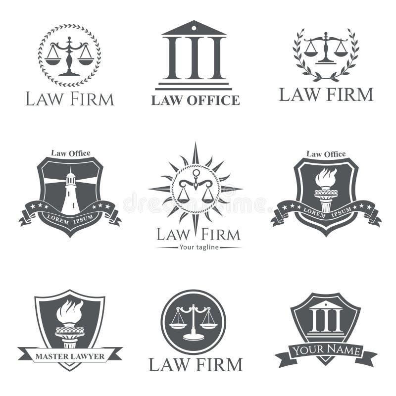 Advokatbyrå stock illustrationer