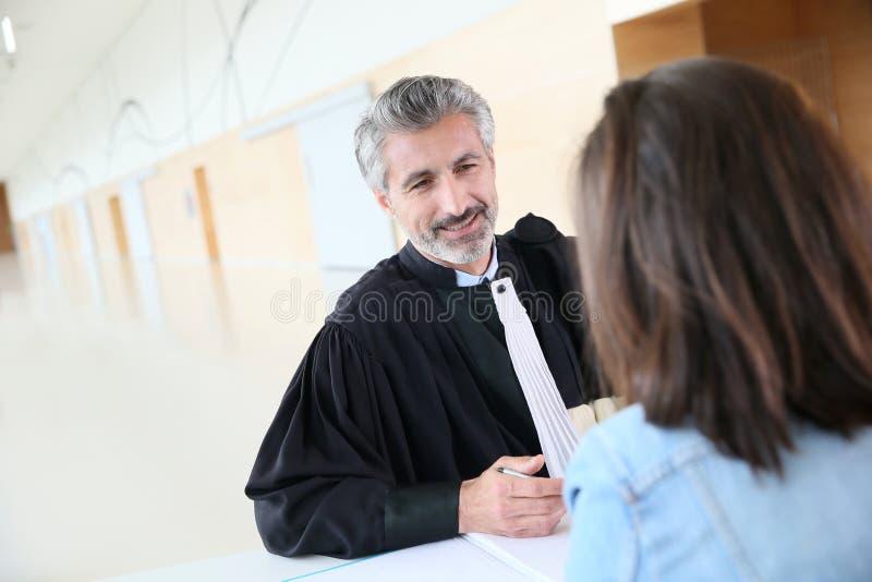 Advokatmöteklient för försök royaltyfri bild