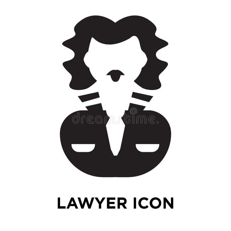 Advokatsymbolsvektor som isoleras på vit bakgrund, logobegrepp av stock illustrationer