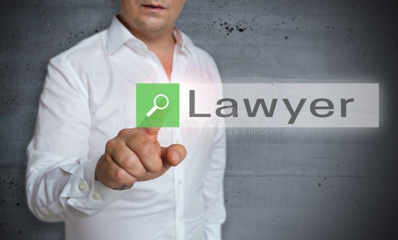 Advokatwebbläsaren fungeras av manbegrepp arkivbilder