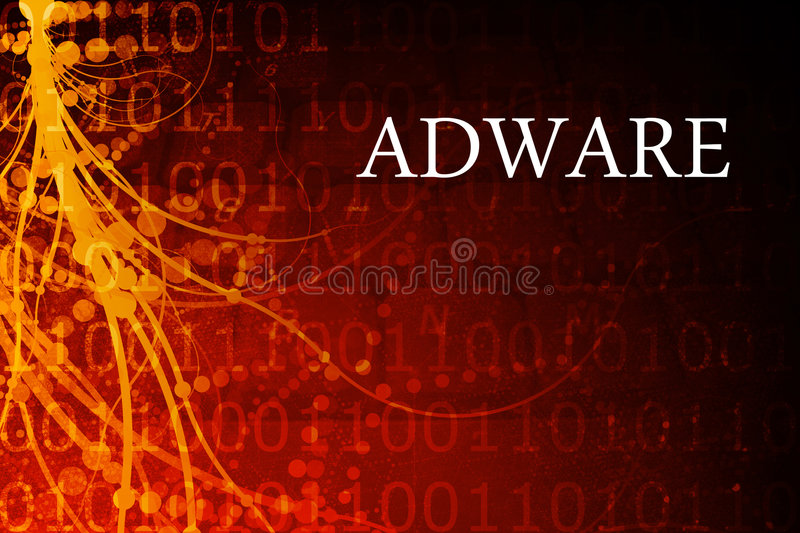 Adware Abstract royalty free illustration