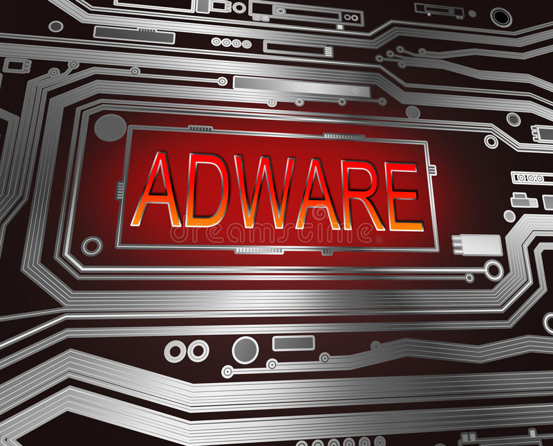 Adwarekonzept. vektor abbildung