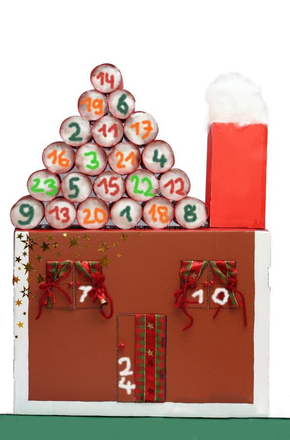 Adwentu kalendarza dom obraz stock