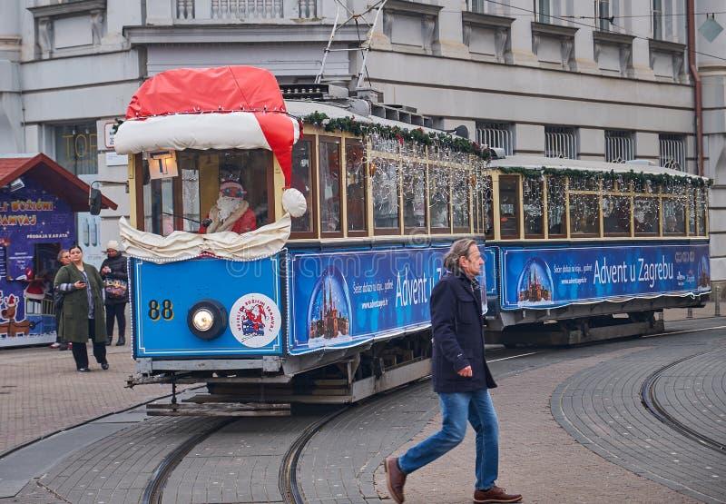 Adwentu rynek w Zagreb cesze obraz royalty free