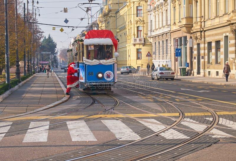 Adwentu rynek w Zagreb cesze zdjęcia stock