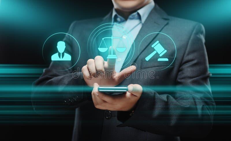 Adwokat przy prawo prawnika biznesu Legalnym pojęciem zdjęcia royalty free