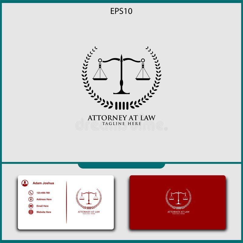 adwokata logo wektorowy projekt sprawiedliwość wektoru ilustracja royalty ilustracja