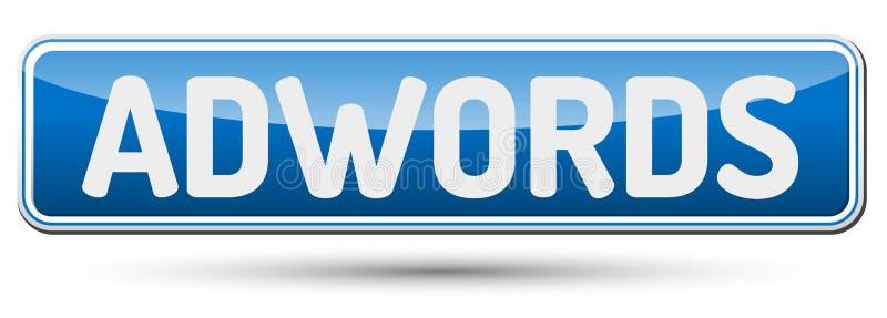 Adwords - abstrakt härlig knapp med text vektor illustrationer
