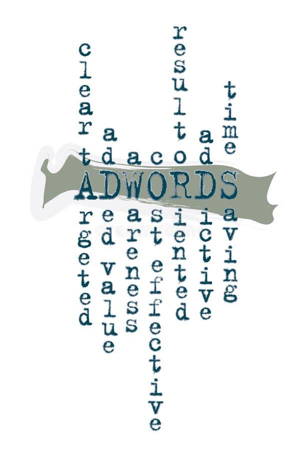Adwords Digital marknadsföringsdiagram stock illustrationer