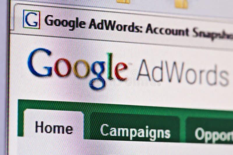 adwords google стоковые фотографии rf