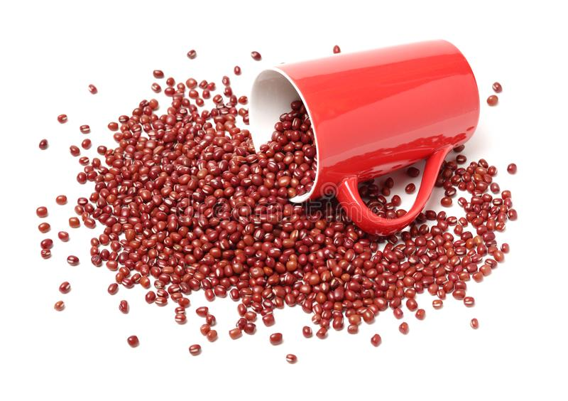Adzuki de la haba roja imagenes de archivo