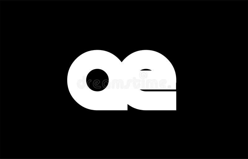 AE A E black white bold joint letter logo. AE A E letter logo combination alphabet vector creative company icon design template modern black white bold vector illustration