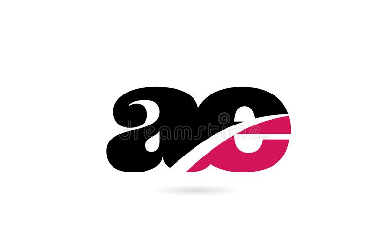 Ae a e pink and black alphabet letter combination logo icon design. Ae a e pink and black alphabet letter combination suitable as a logo icon design for a vector illustration