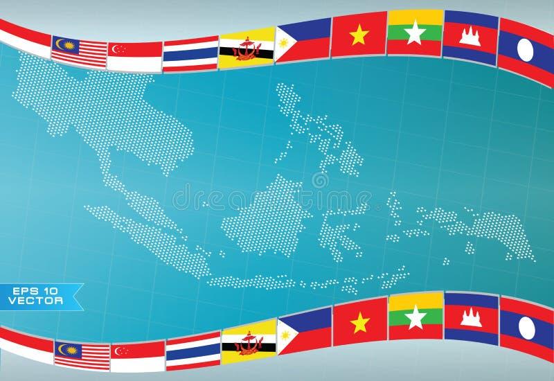 Aec o la ANSA o elemento asiático suroriental gráfico del diseño de la información libre illustration