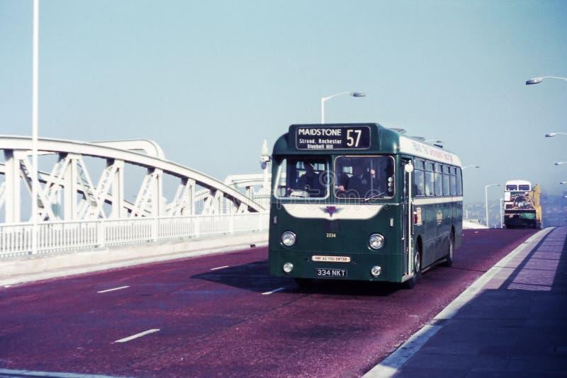 AEC oparcia autobus w Rochester, 1970 fotografia royalty free