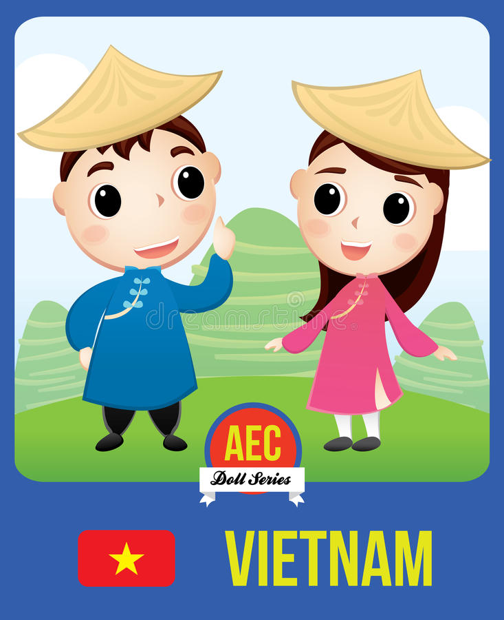 AEC van Vietnam pop stock illustratie