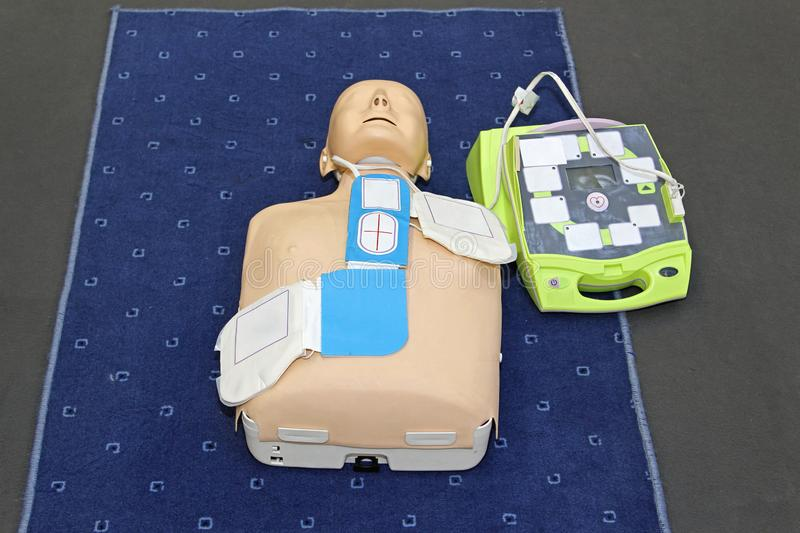 AED Mannequin obrazy stock