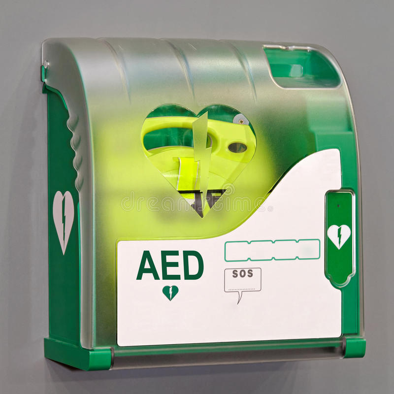 AED unit. Automated External Defibrillator portable electronic life saver
